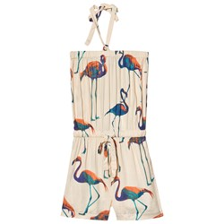 How To Kiss A Frog Jennie Jumpsuit Flamingo Off White