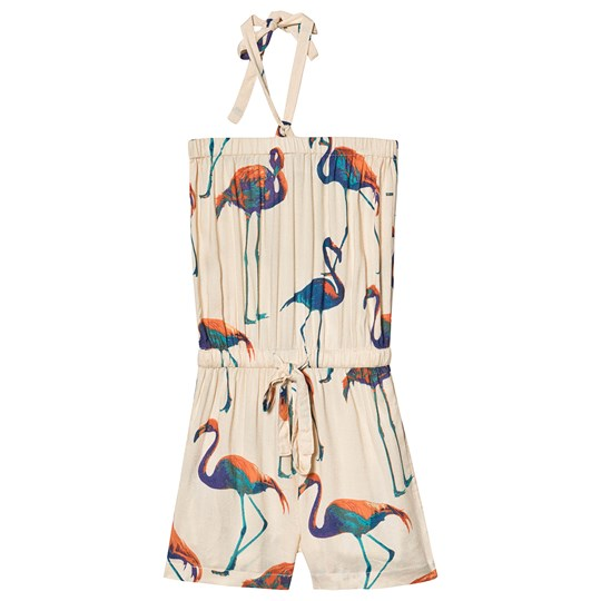 How To Kiss A Frog Jennie Jumpsuit Flamingo Off White off white flamingo