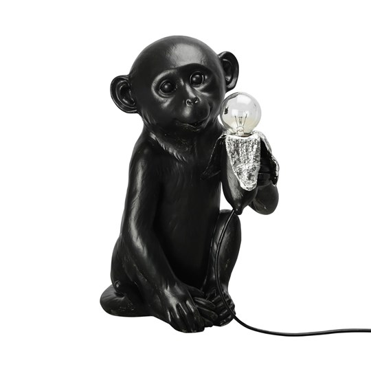 By On Banana Monkey Lamp Black