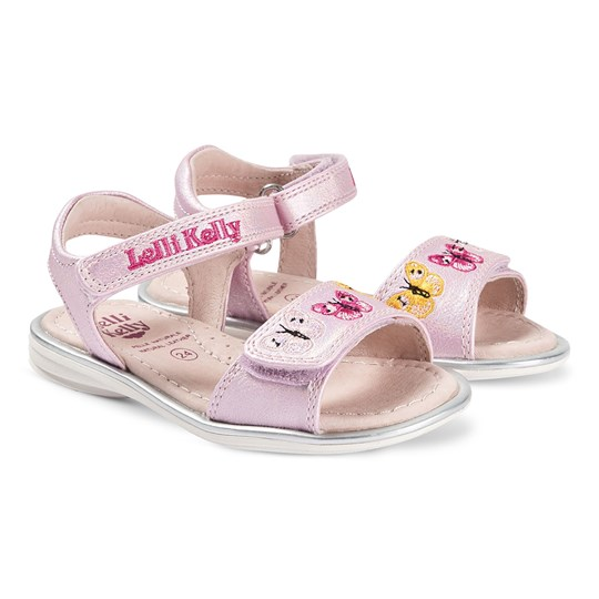 Lelli Kelly Pink Alexandra Butterfly Leather Sandals Pink