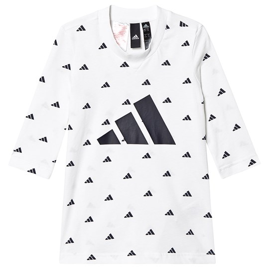 adidas Performance White and Black Hype Logo Tee White/Black