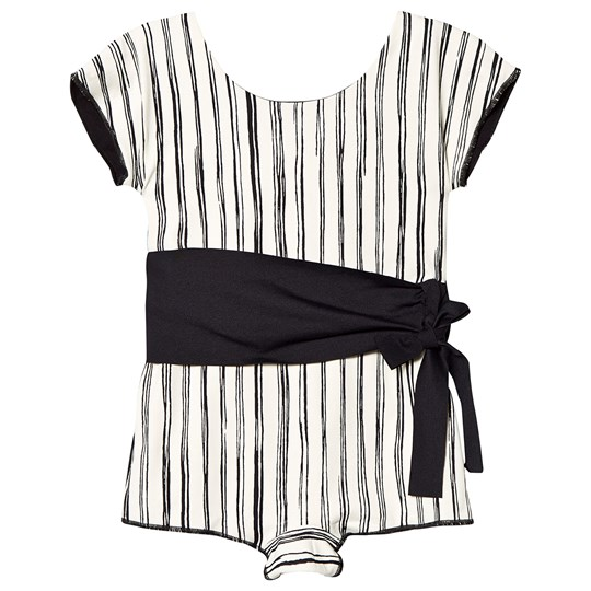 Little Creative Factory Black and White Stripe Retro Swimsuit Black stripe