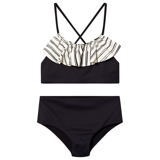 Little Creative Factory Black Bamboo Bikini with Ruffle Top Black