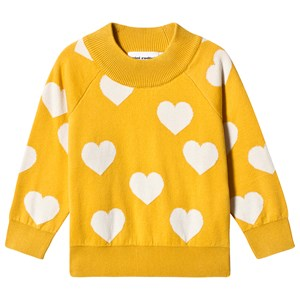 Mini Rodini Knitted Heart Sweater Yellow 80/86 cm