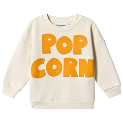 Mini Rodini Pop Corn Sweatshirt in Off White