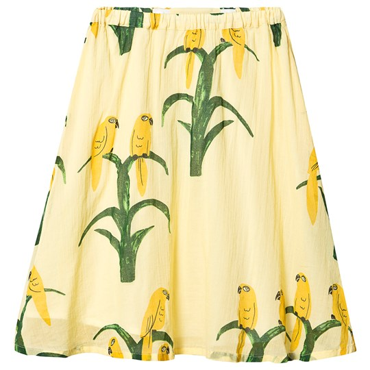 Mini Rodini Parrot Woven Long Skirt Yellow Yellow