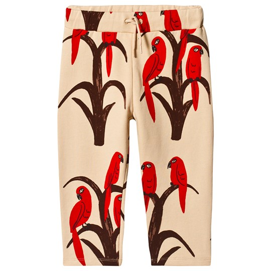 Mini Rodini Parrot Sweatpants in Red Red