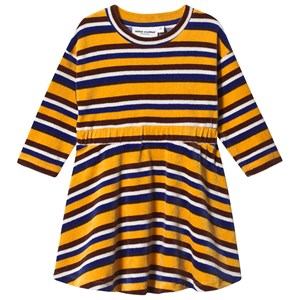 Mini Rodini Velour Stripe Dress in Yellow 80/86 cm