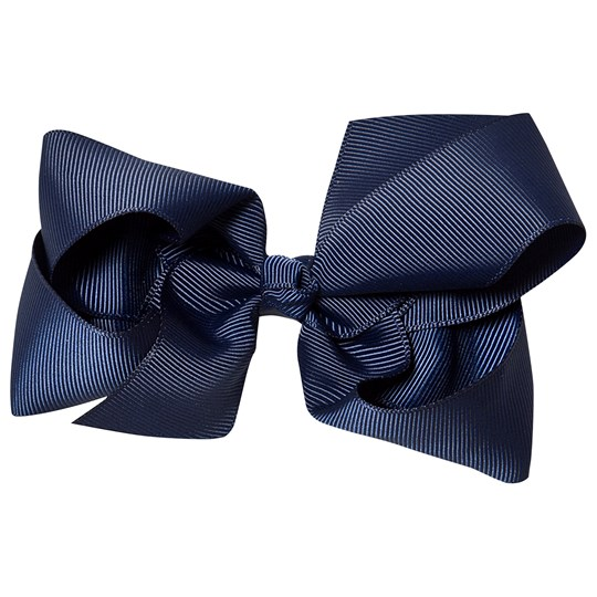 Petite Olivia Large Hair Bow Navy Marinblå