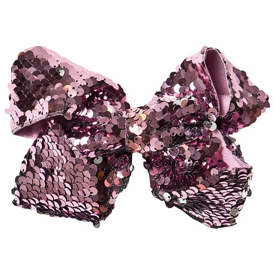 Petite Olivia Reversible Sequin Hair Bow Pink Pink