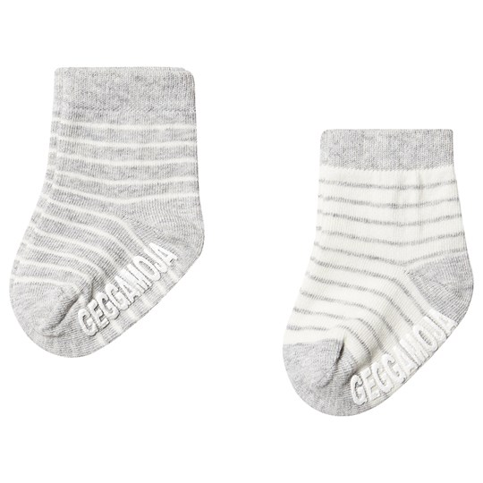 Geggamoja Antislip Sock Classic 2 Pack Light Grey Solid Light grey solid