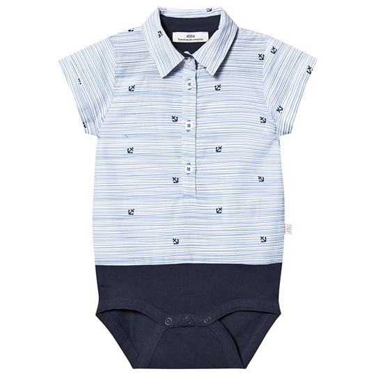 ebbe Kids Hob Baby Body Randig med Ankare Striped with anchors