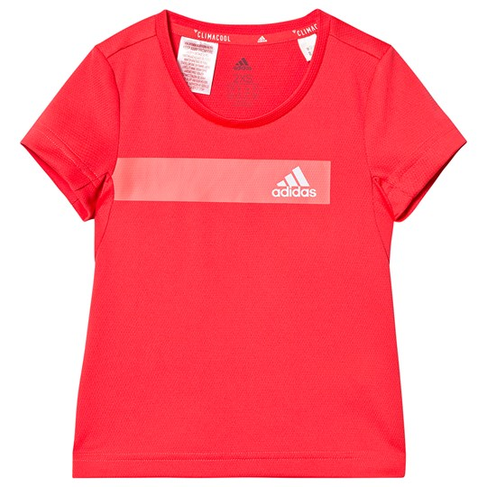 adidas Performance Coral Cool Branded Tee shock red/white