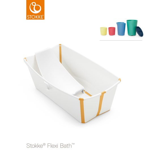 Stokke Flexi Bath® Bath and Play Transparent White/Yellow Whte Yellow
