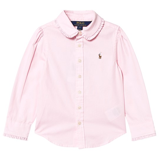 Ralph Lauren Ruffle Collar Oxford Shirt Pink 001