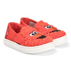 Toms Red Elmo Faux Shearling Slip On Luca Trainers