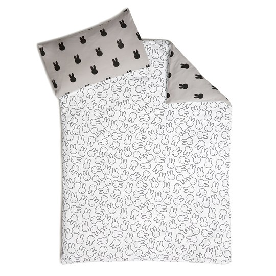 Tobias & The Bear Miffy Reversible Bedding Set White/Grey (Crib) White