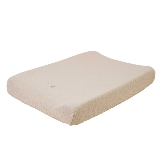 garbo&friends Muslin Changing Pad Cover Eggshell Light Beige
