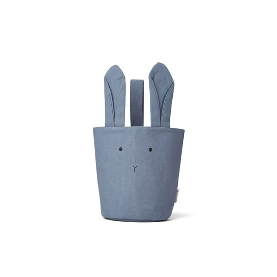 Liewood Ib fabric basket Rabbit blue wave Blue