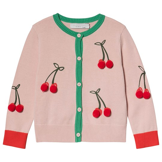 Stella McCartney Kids Pink Embroidered Cherries Cardigan 5769 - Pearl Pink