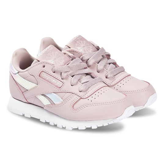 Reebok Dusty Pink Classic Leather Trainers ASHENLILAC/WHITE