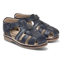 Mayoral Navy Leather Velcro Strap Sandals