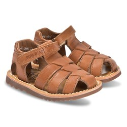 Pom d'Api Tan Leather Closed Toe Waff Papy Sandals