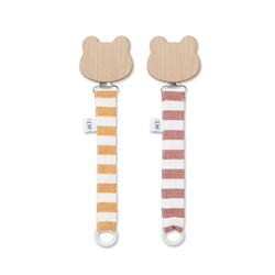 Liewood Sia Pacifier Strap Stripe - 2 Pack