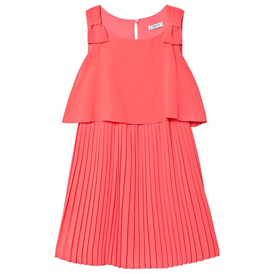Mayoral Coral Pleated Sleeveless Dress 80
