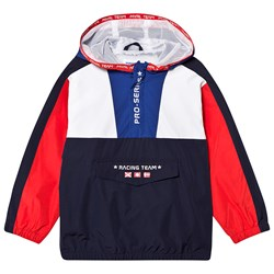 Mayoral Red White and Navy Front Pocket Windbreaker