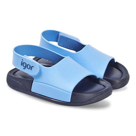 Igor Blue and Navy Baby Bicolour Rubber Sandals 003