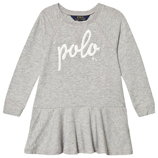 Ralph Lauren Grey Polo Embroidered Sweat Dress 002