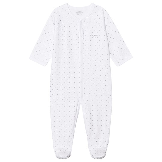 Livly Saturday Simplicity Footed Baby Body White/silver Dots White/silver Dots