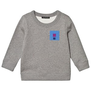 Image of Acne Studios Flag Fairview Sweatshirt Grey Melange 4-6 år (1414250)