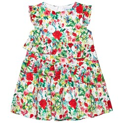 Mayoral Multi Floral Ruffle Tiered Dress