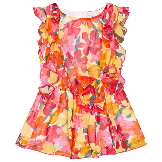 Mayoral Multi Floral Ruffle Dress with Elasticated Waist 45