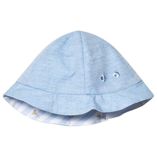 Mayoral Sky Blue Reversible in to Stripe Sun Hat 49