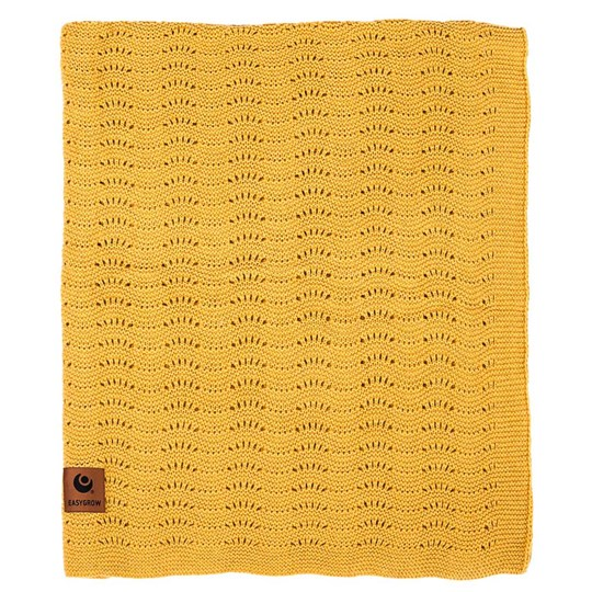 Easygrow Grandma Wave Blanket Yellow Melange Yellow Melange