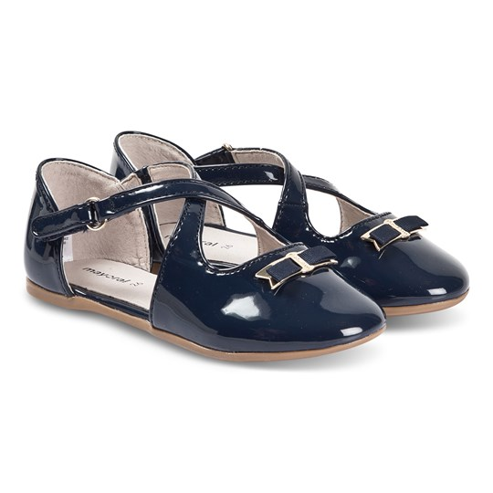 Mayoral Navy Bow Detail Cross Strap Mary Janes 10