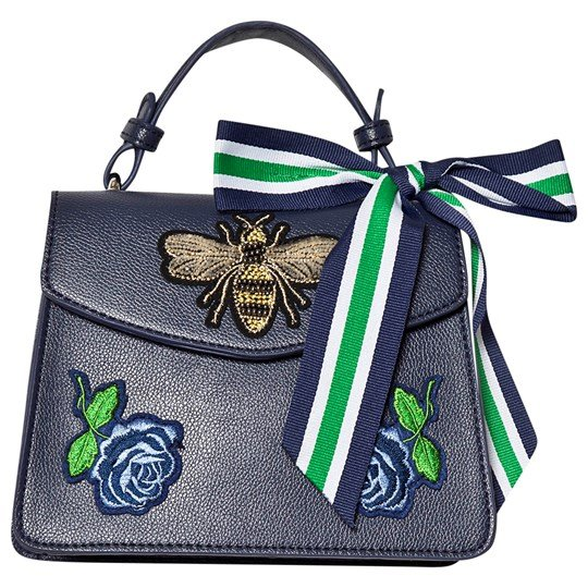 Mayoral Navy Embroidered Bee Fabric Strap Handbag 91