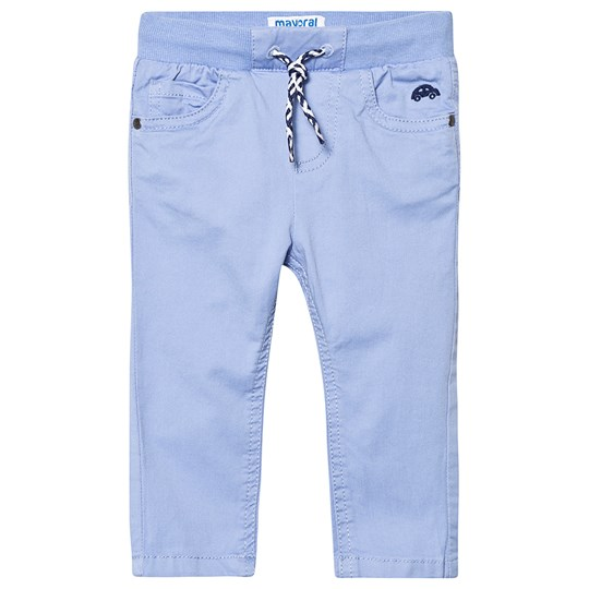 Mayoral Light Blue Pull Up Trousers 95