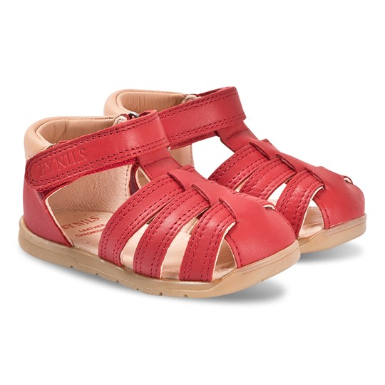 By Nils Siljan Sandals Red