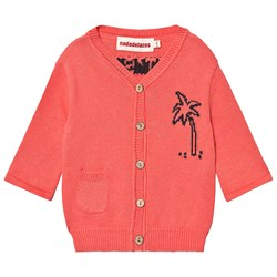 nadadelazos Cardigan Let´s Go To The Beach in Tan Red