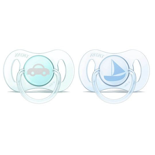 Philips Avent 2-Pack Mini Soother 0-2M Blue/Green Multi