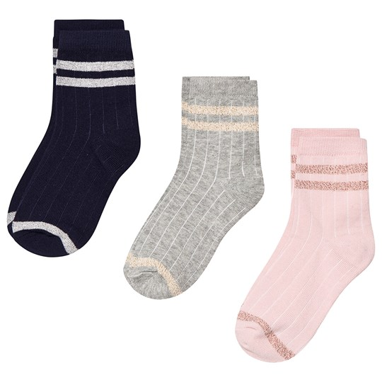 GAP 3-Pack Stripe Socks Light Heather Grey Light Heather Grey