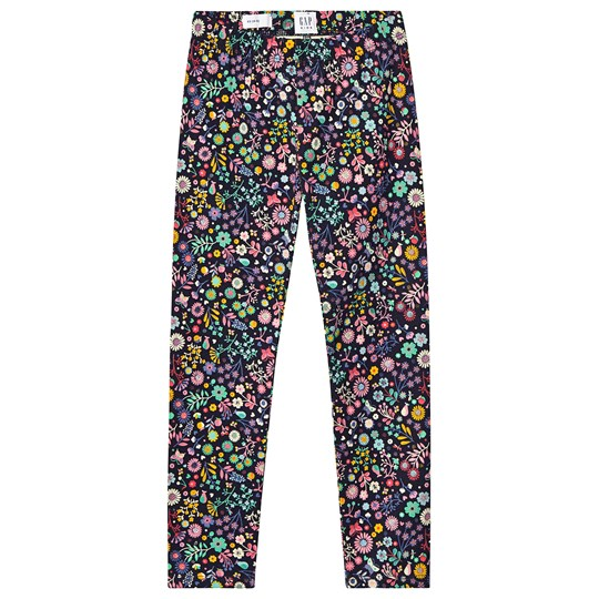 GAP Black Floral Print Leggings ICE CREAM
