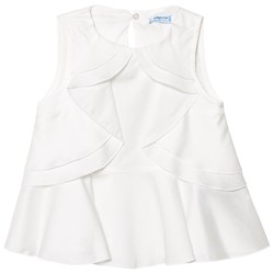 Mayoral White Ruffle Tiered Blouse