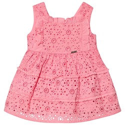 Mayoral Pink Broderie Anglais Layered Dress