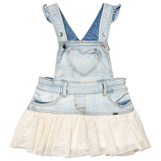Mayoral Denim with Glitter Tulle Skirt Dungaree Dress 81
