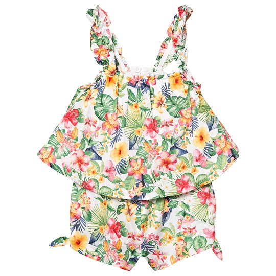 Mayoral Multi Floral Overlay Playsuit 6